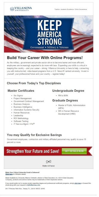 Exclusive Savings On 100 Online Programs Military