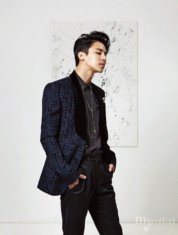 MYNAME's Insoo turns into a young groom for 'My Wedding' magazine   allkpop.com