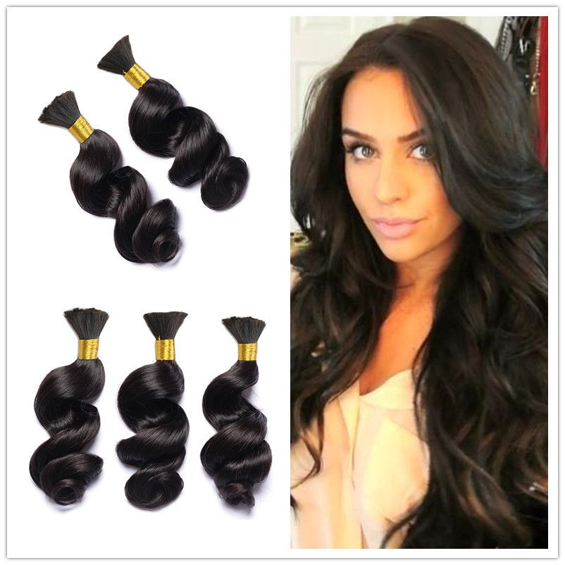 8 28 Brazilian Virgin Hair Human Braiding Hair Bulk No Weft Loose