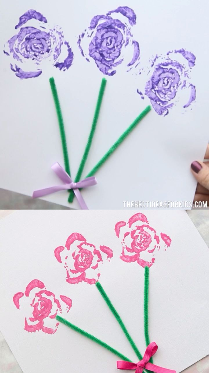 CELERY STAMPED FLOWERS  - such a fun and easy Spring craft for kids! #bestideasforkids