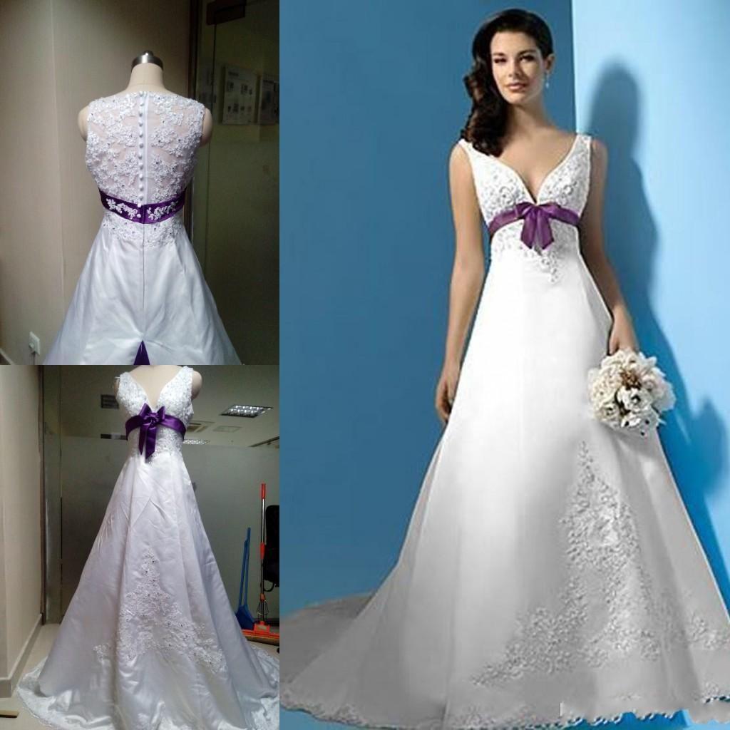 White And Purple Wedding Dresses Wedding Dresses Purple Wedding Dress Applique Wedding Dress [ 1024 x 1024 Pixel ]