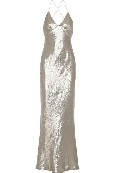 Silver Silk Dresses