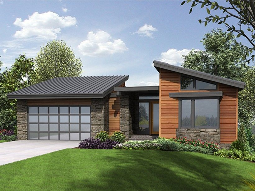 Eplans House Plan: Stylish, sleek, and contemporary, this cool ...