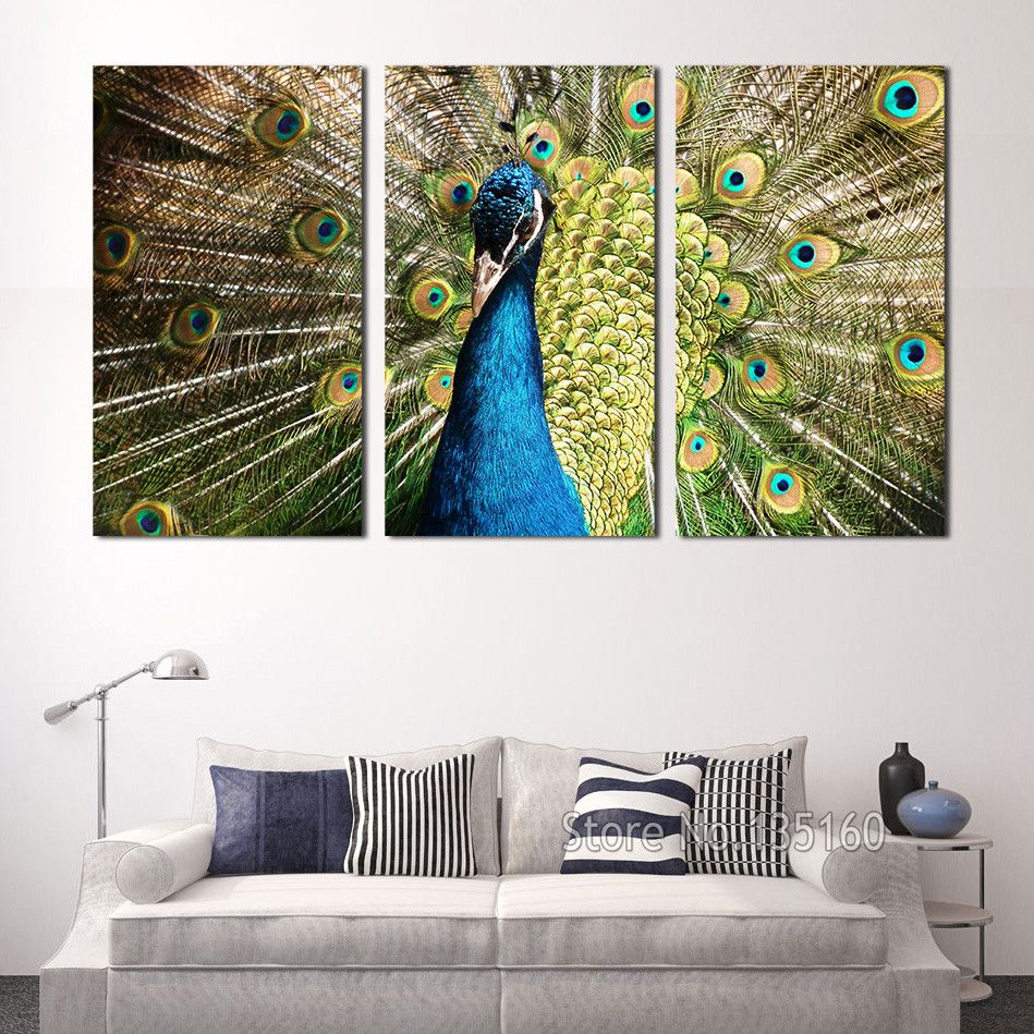 Peacock Wall Art Fair Aliexpress  Buy Large Wall Art Peacock Wall Pictures For 2018