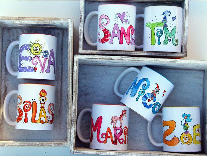 Becher & Tassen - Tassen, Namenstassen, Geschenke, Becher - ein Designerstück von Tassen-Geschenke-by-MySweetheart bei DaWanda #mugcup