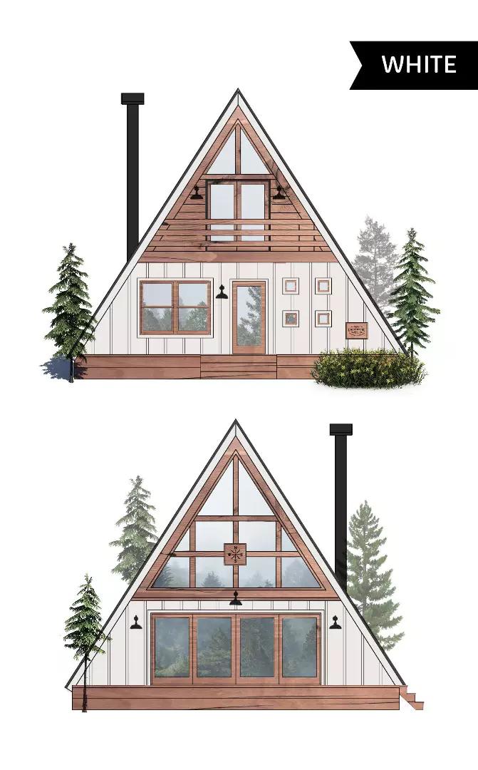 Ayfraym Cabin Lets You Diy Or Buy Wohnzimmer Schlafzimmer Wohnung Hausdekor Hausdekoration Einrichten De A Frame House Plans A Frame Cabin A Frame House
