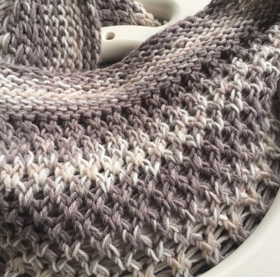 Loom Knit Baby Blanket #loomknitting #loomknitblanket ...
