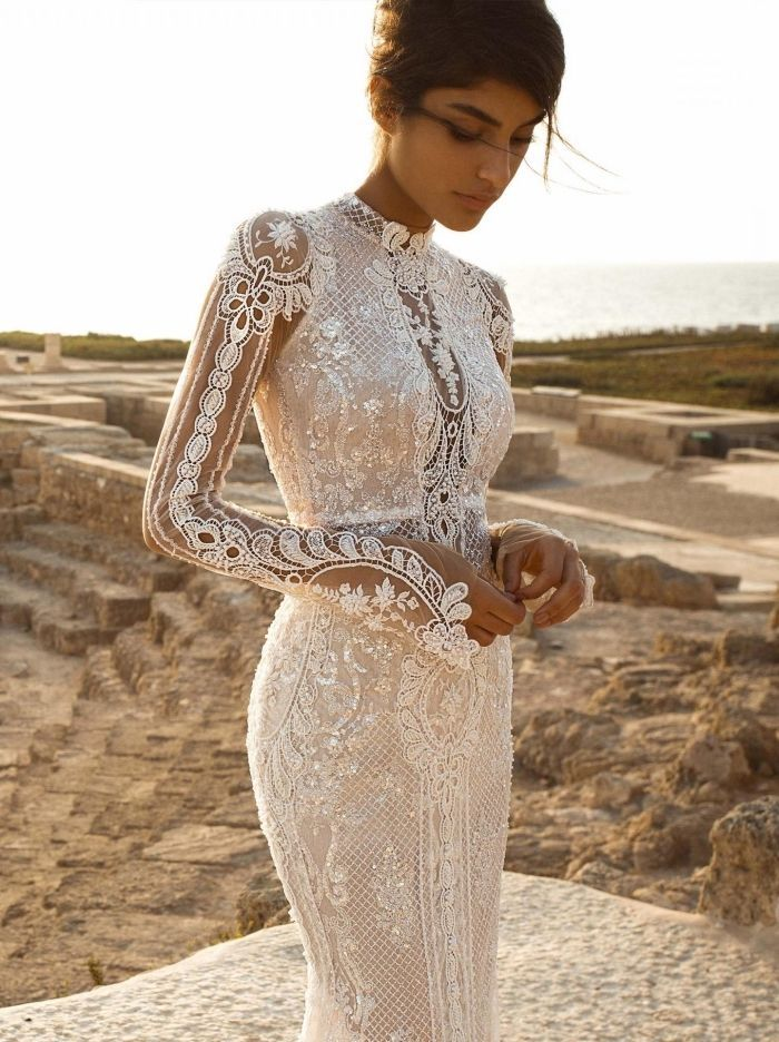 ▷ 1001 + amazing models of the wedding dress with long sleeve  #amazing #dress #models #sleeve #wedding