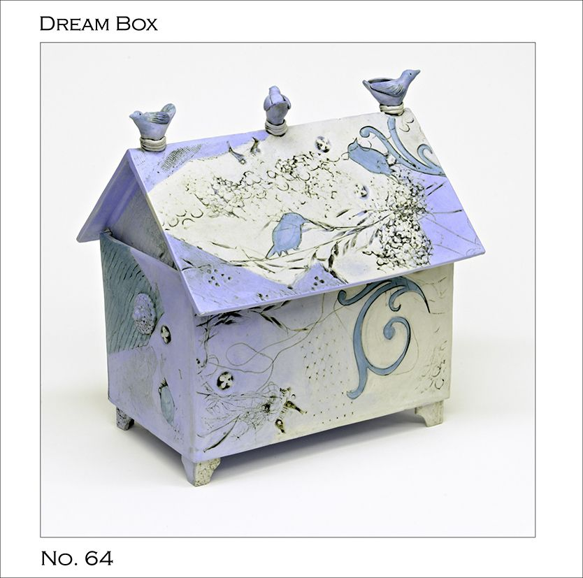 Large blue Dream Box by Catherine Brennon
