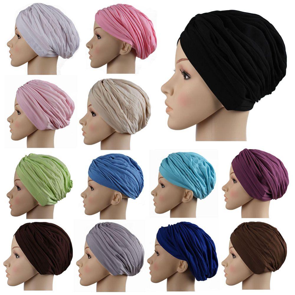 2017 musulman écharpe femmes Mode Hijab Casquettes Musulman Femmes Bonnet  islamique Tête Cover Musulman Chapeau Casquettes