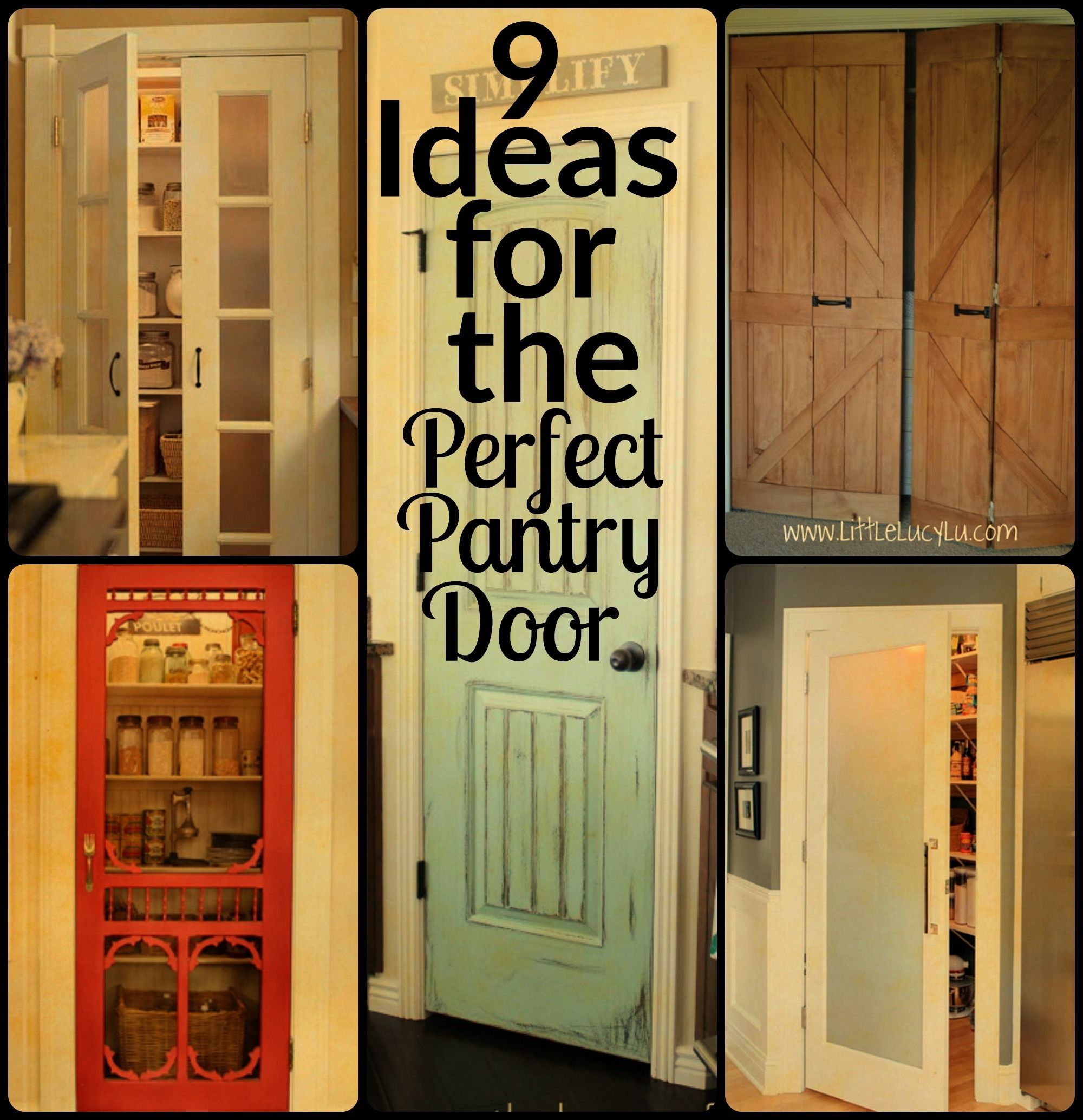 Modernize your pantry door with one of these nifty and DIYable ideas ...