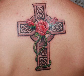Tattoo rose vine designs on calf google search tattoos for Celtic cross with roses tattoo designs