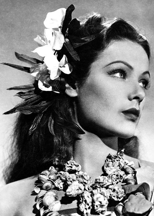Hawaiian beauty- Gene Tierney