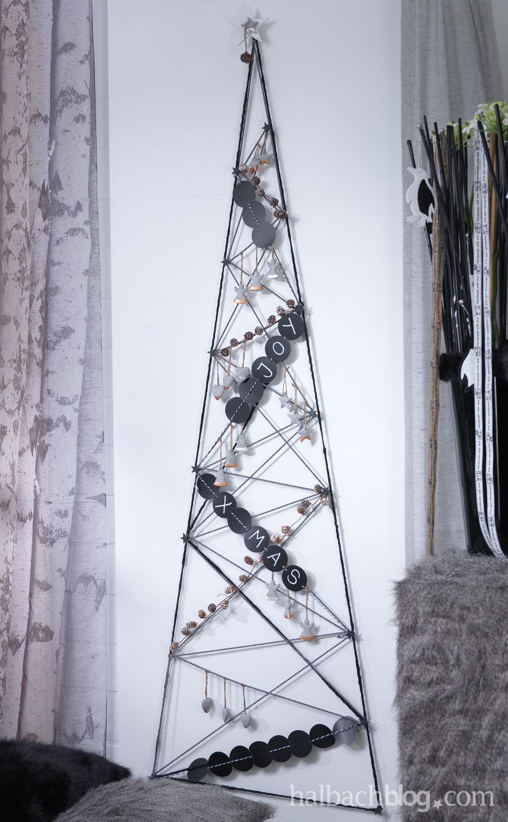 Alternative Weihnachtsbaum alternative weihnachtsbaum ideen i black white i tafel look i