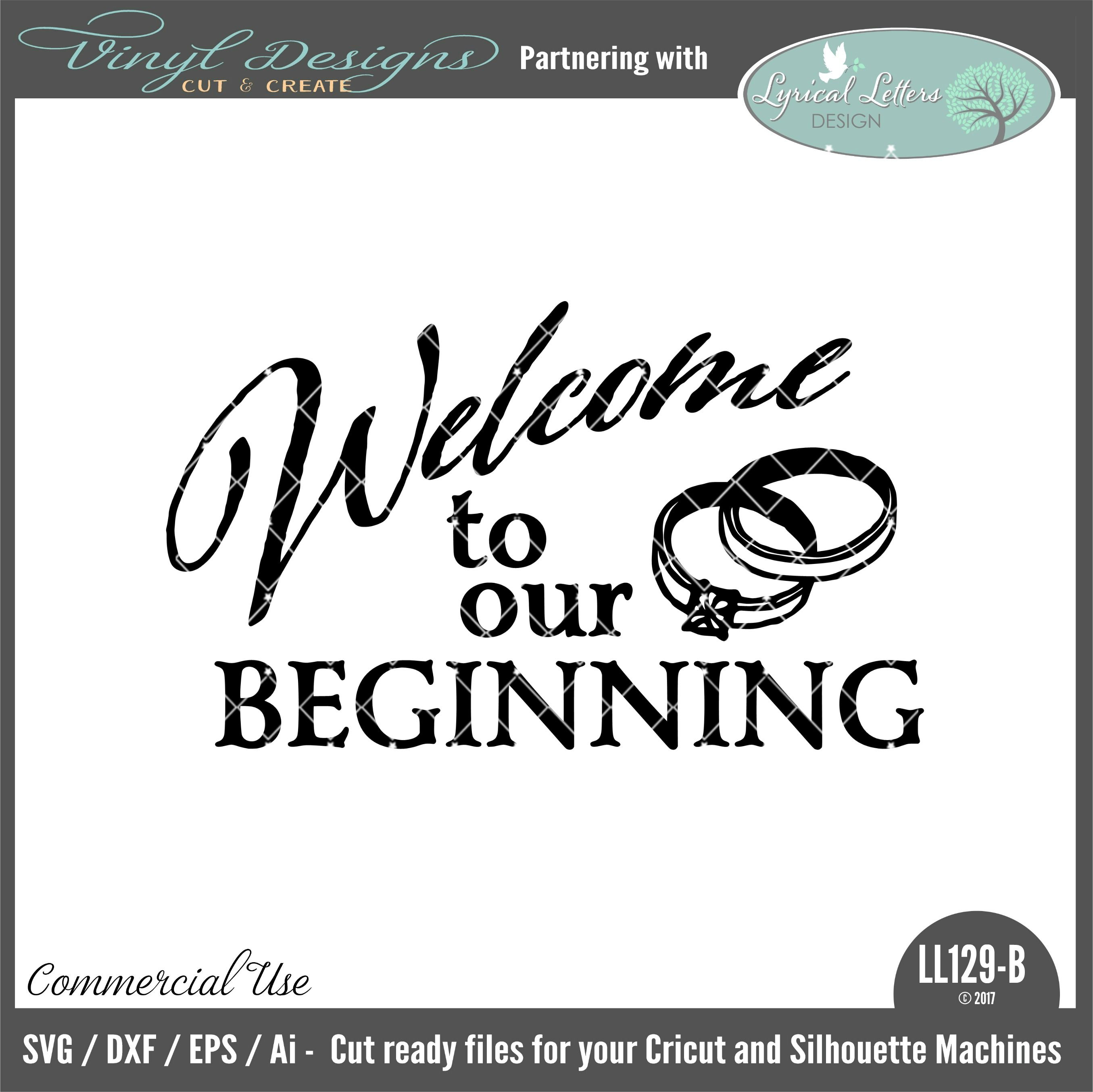 Home Designsmall House: Welcome To Our Beginning. Sold By Lyrical Letters