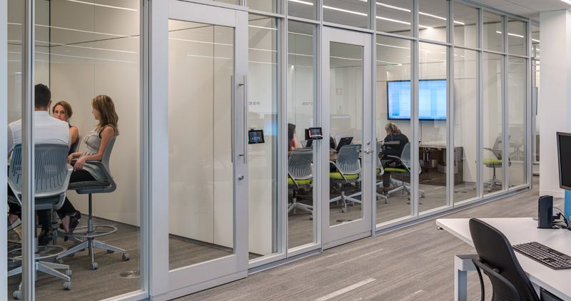 La-Z-Boy Corporate Headquarters. Steelcase Privacy Wall creates private areas to get away or collaborate while providing high-performance and flexibility. & La-Z-Boy Corporate Headquarters. Steelcase Privacy Wall creates ...