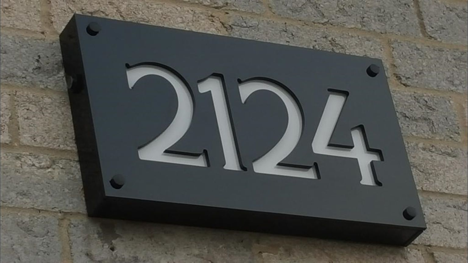8cc0d07eb91 Designed a custom engraved front lit led low voltage house number address  sign that is weatherproof available in 3 modern finishes.
