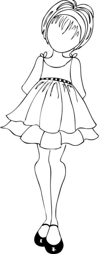 Prima Julie Nutting Cling Mounted Stamps Mixed Media Doll Doll With Ruffle Dress Cartoes Artesanais Pinturas De Menina Estampas