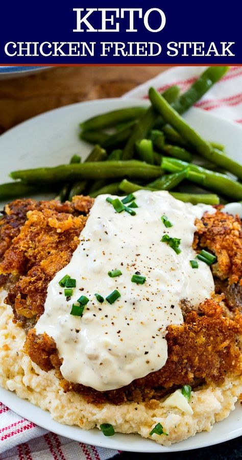 Photo of Keto Chicken Fried Steak and Gravy – Skinny Southern Recipes