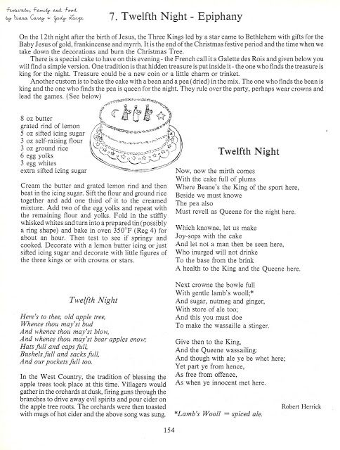 ChickeeMaMa: Twelfth Night ~ The Eve of Epiphany