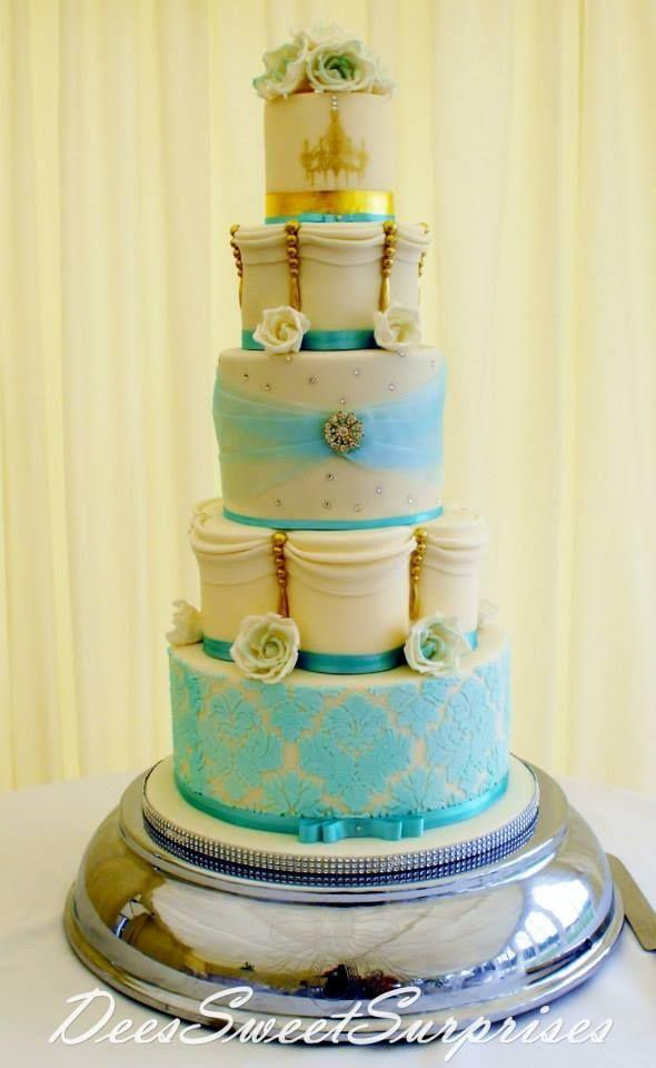 damask Cakes | Found on scontent-a-dfw.xx.fbcdn.net | Bolos ...