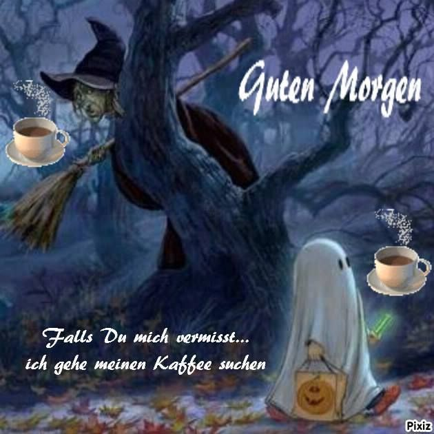 Guten Morgen Happy Halloween
