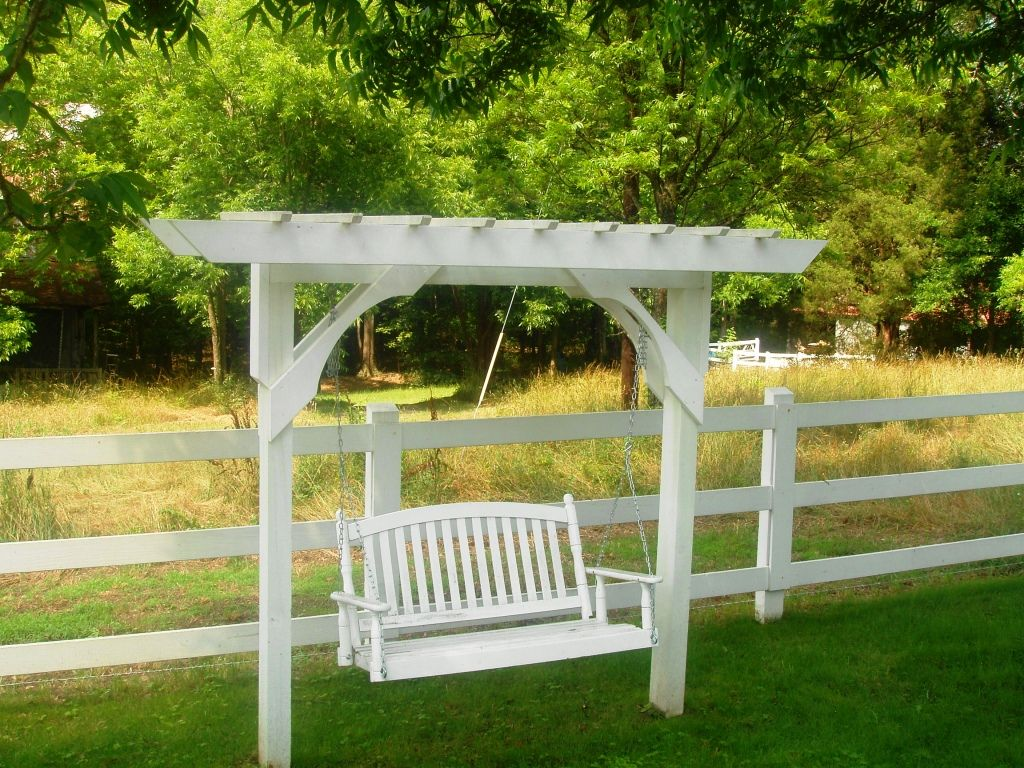 Simple Ideas of Pergola Swing Plans | Home Exterior Design - Simple Ideas Of Pergola Swing Plans Home Exterior Design