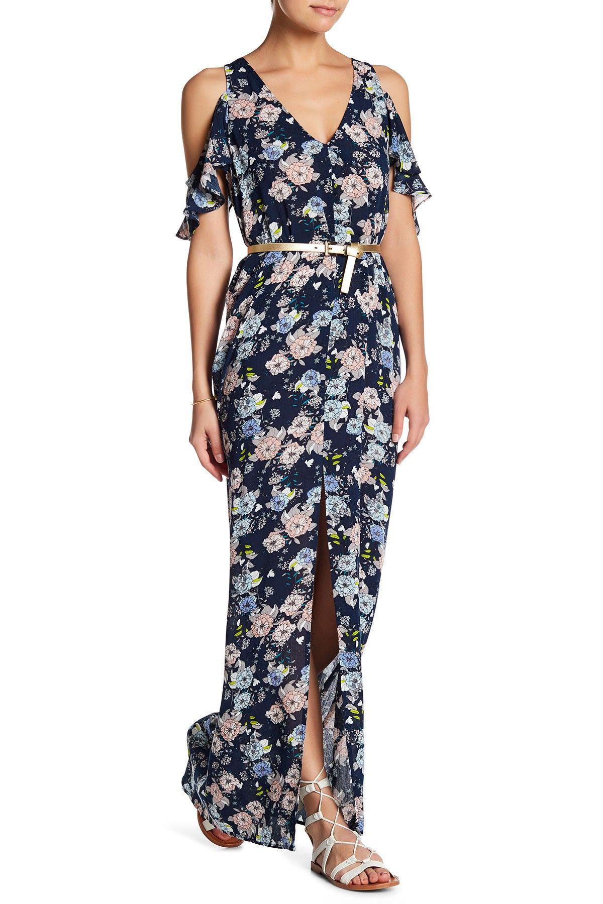 Love Ady Cold Shoulder Ruffle Maxi Dress Nordstrom Rack Maxi Dress Ruffled Maxi Dress Dresses [ 1800 x 1200 Pixel ]