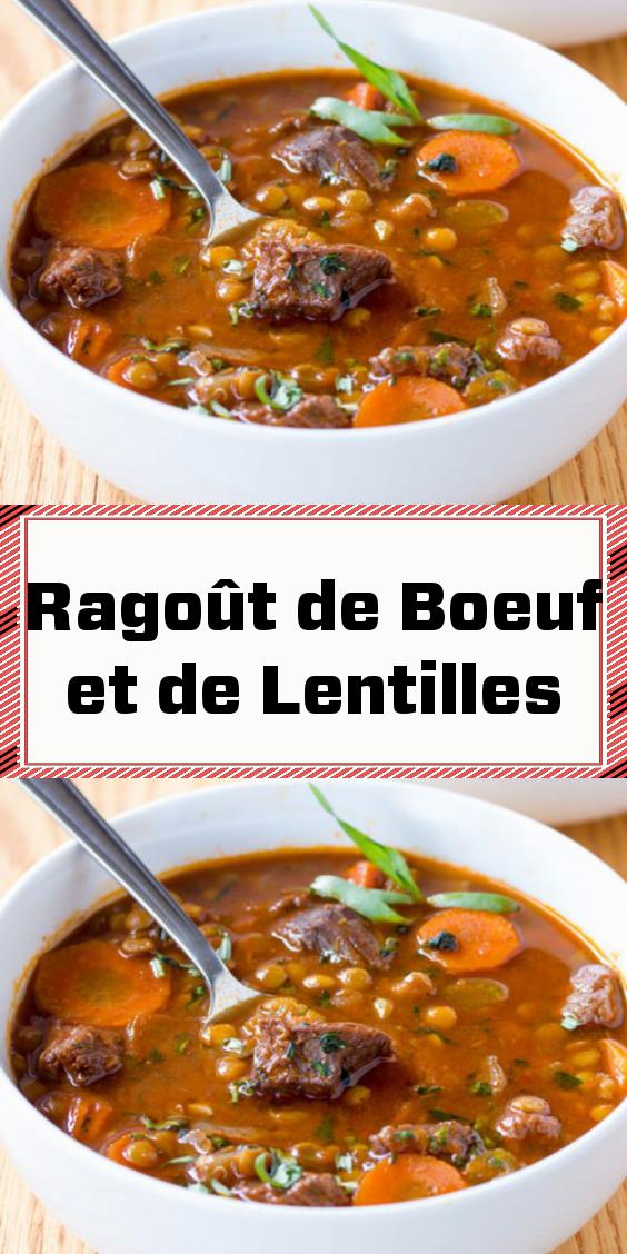 Photo of Ragoût de Boeuf et de Lentilles