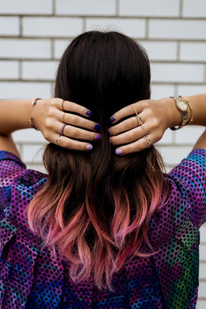 What Why Where Pink Purple Proenza Dip Dye Hair Hair Dye Tips
