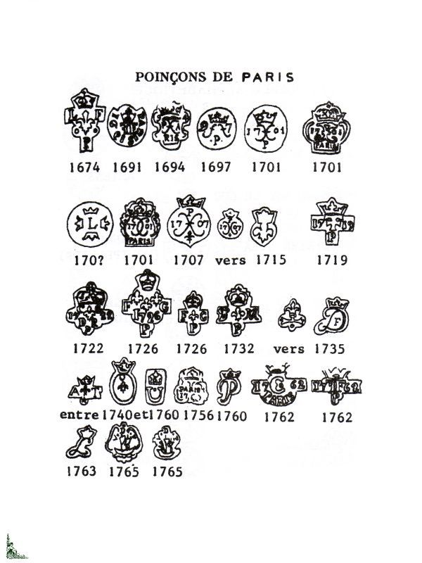 Pewter Marks Identification French Hallmarks And Marks On Pewter Lib1303 Liberty S Books