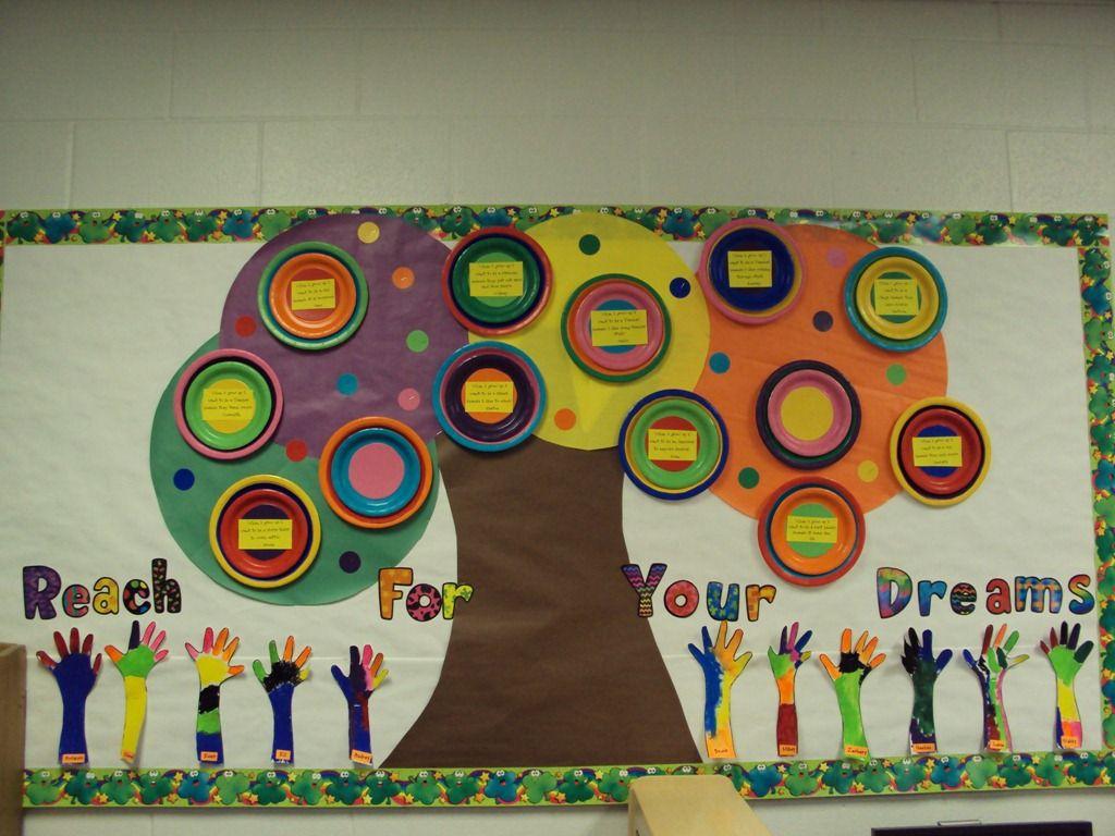 Classroom Decorations Bulletin Boards : Rainbow inspired bulletin board love those poppin