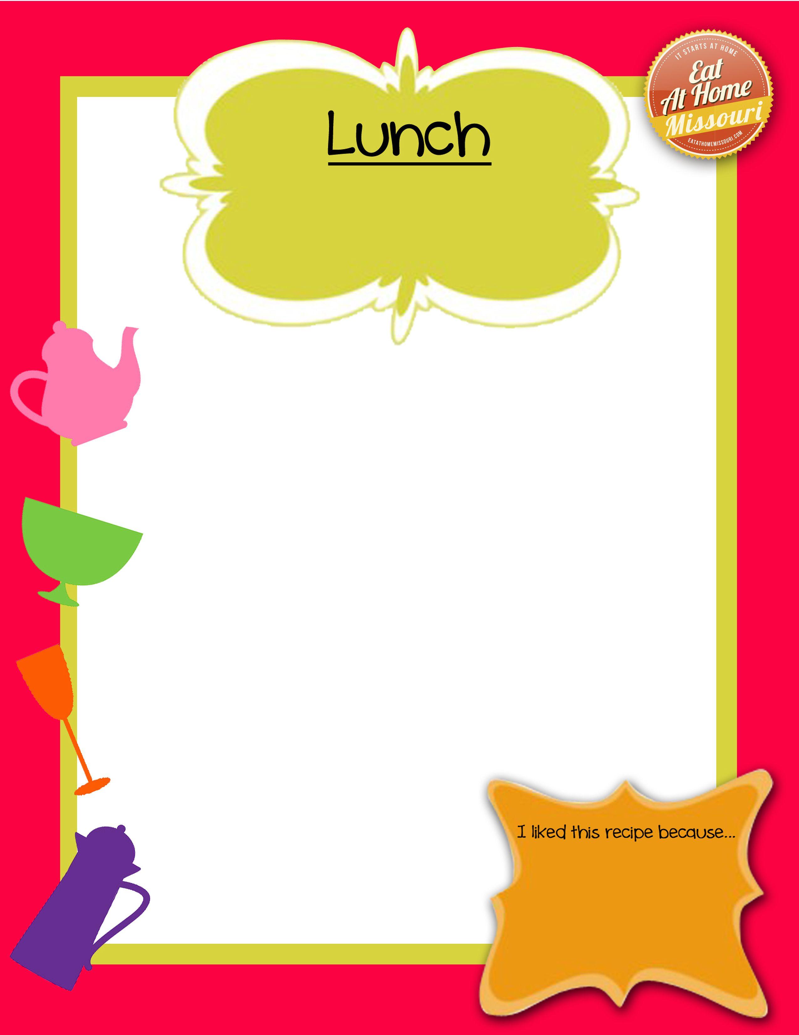 Recipe Book Lunch
