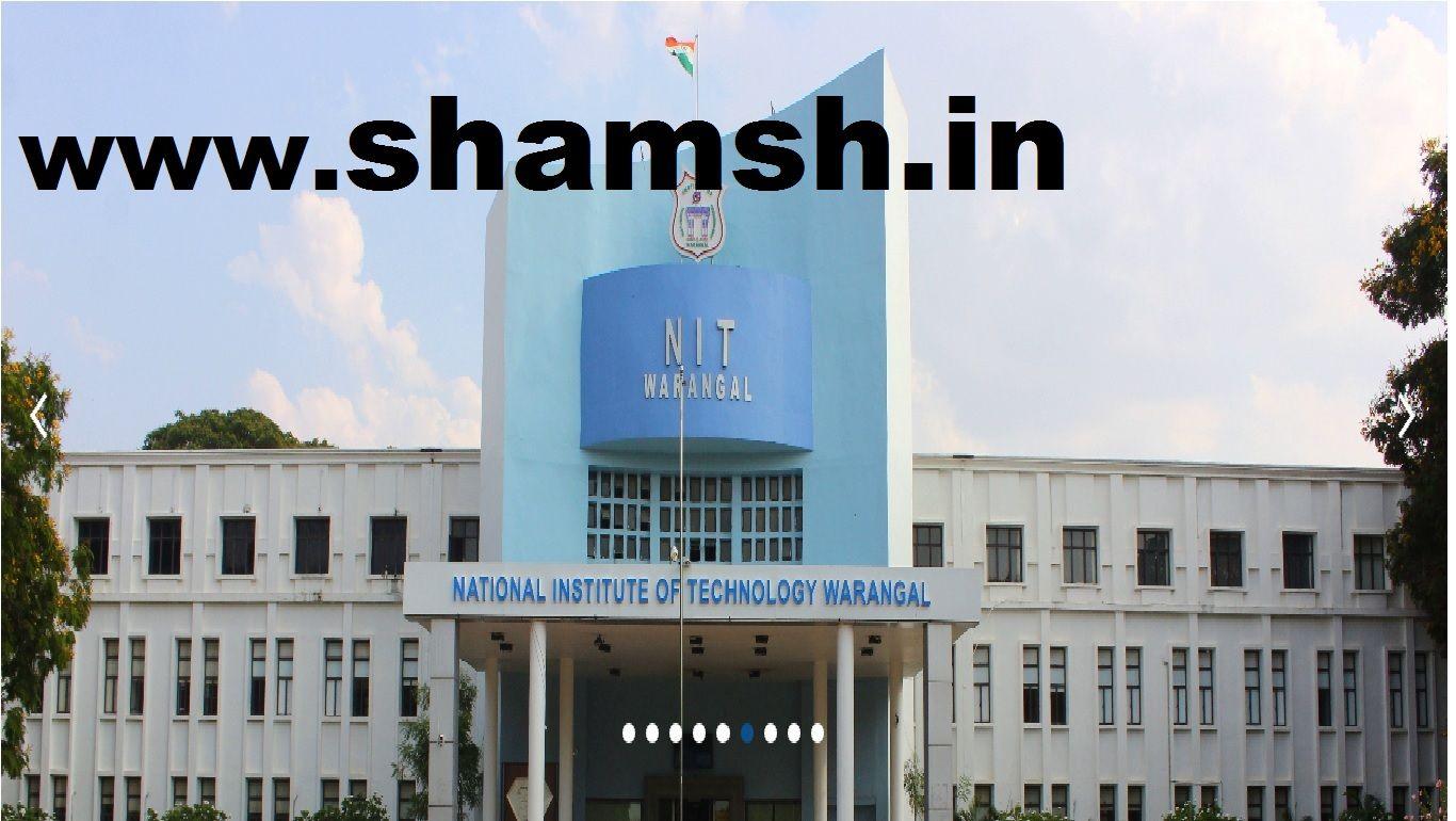 NIT Warangal Faculty Recruitment 2019 Faculties
