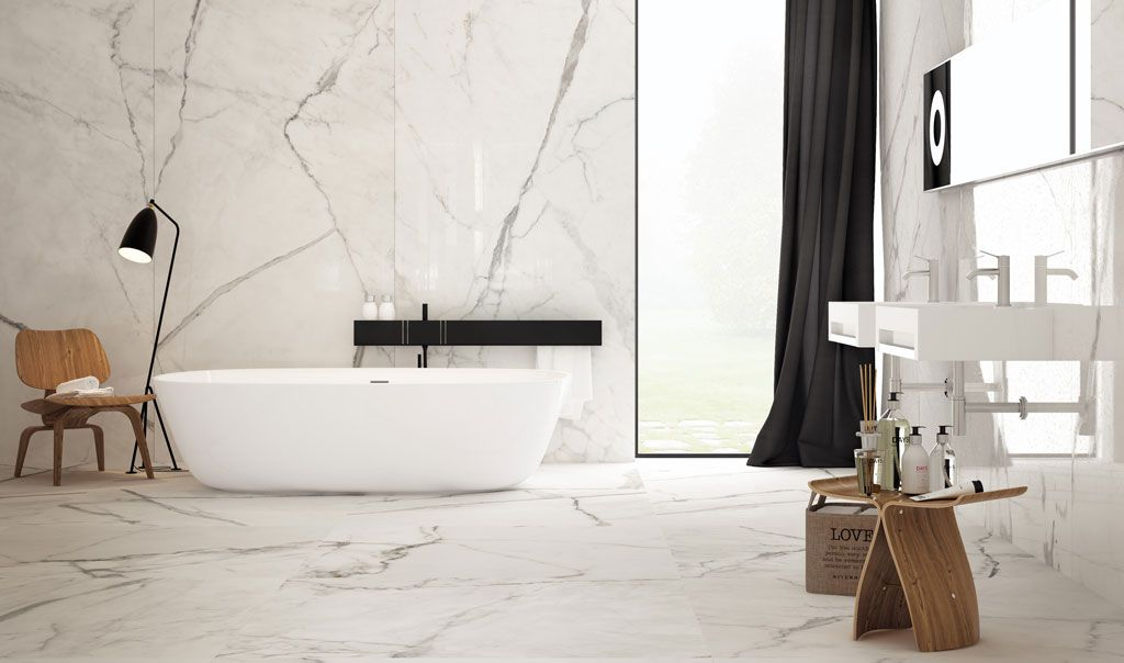 Marbletech White Infinity Porcelain Slabs | A Bathroom ...