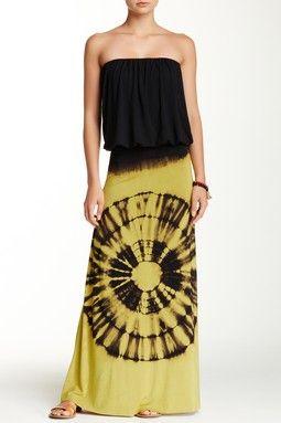 Tie Dye Blouse Maxi Dress