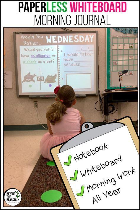 Practically Paperless™ 1st Grade Morning Work {Whiteboard