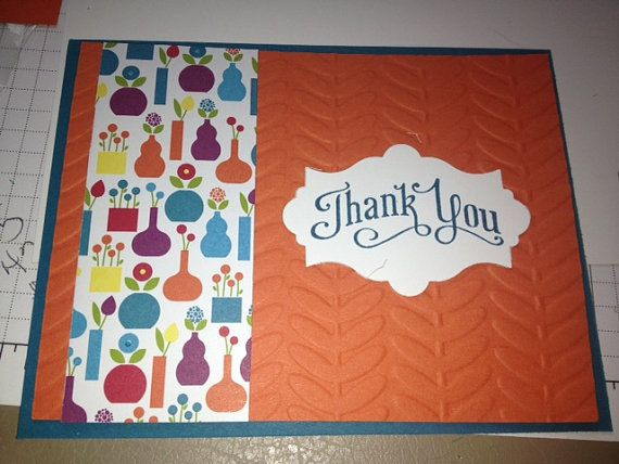 thank you stampin' up card made to order free shipping