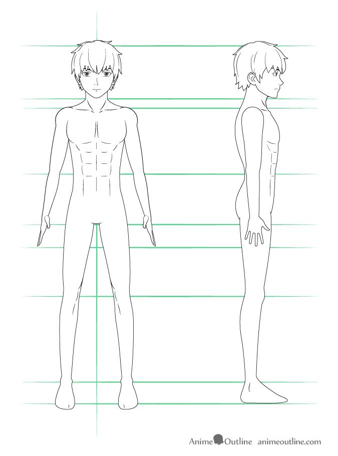 How To Draw Anime Body Boy 2019 In 2020 Anime Guys Anime Guy Blue Hair Anime Guys Shirtless