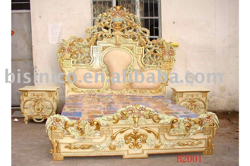European Classicalu0026 Antique Wooden Luxury Bedroom Set,King Size  Bed,Dresser,With Gold Plated,Hand Carving   Buy King Beds,Queen Bed,Dresser  Product On ...