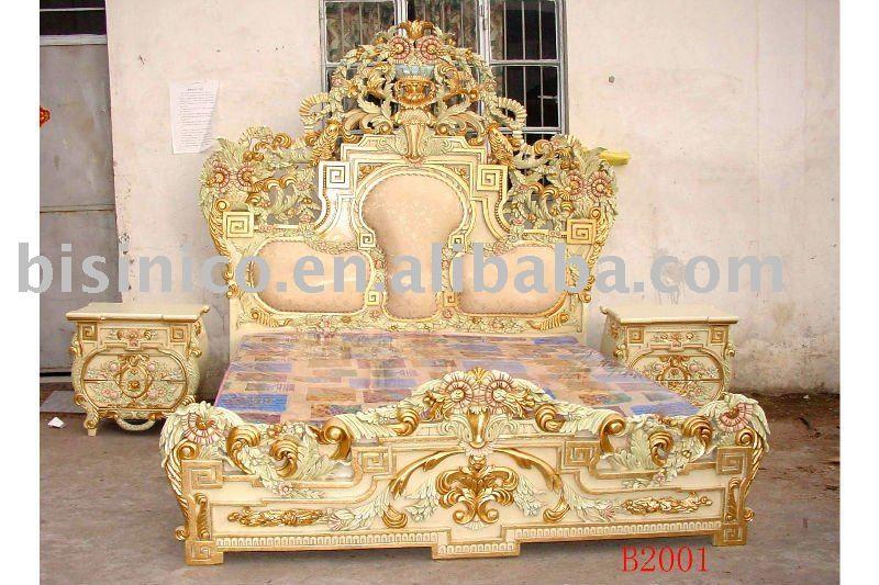 European Classical& Antique Wooden Luxury Bedroom Set,King Size ...