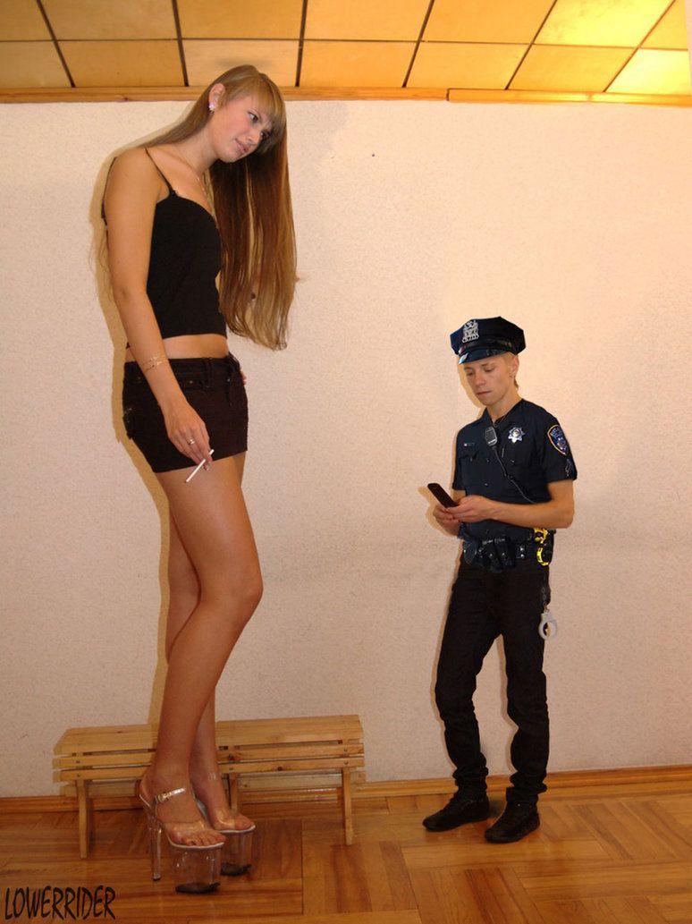 Tall woman tiny man