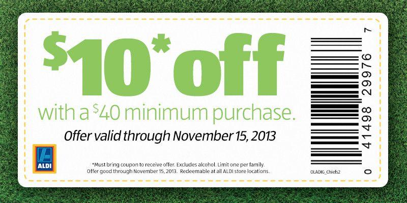 Aldi Coupons 10 Off 40 At Aldi Foods Promo Codes Aldi Coupons Aldi Printable Coupons