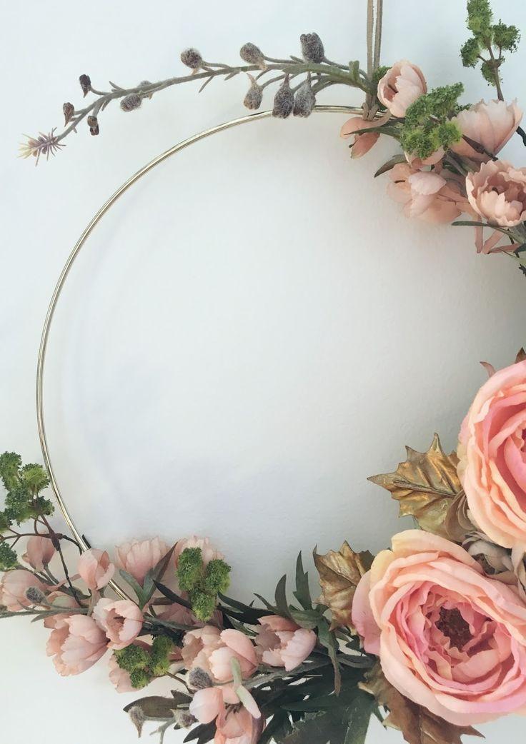 Photo of diy gold hoop fall wreath