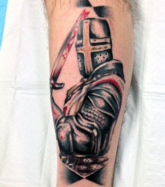 Tattoo Ideas England: Top 80 Best Knight Tattoo Designs For Men