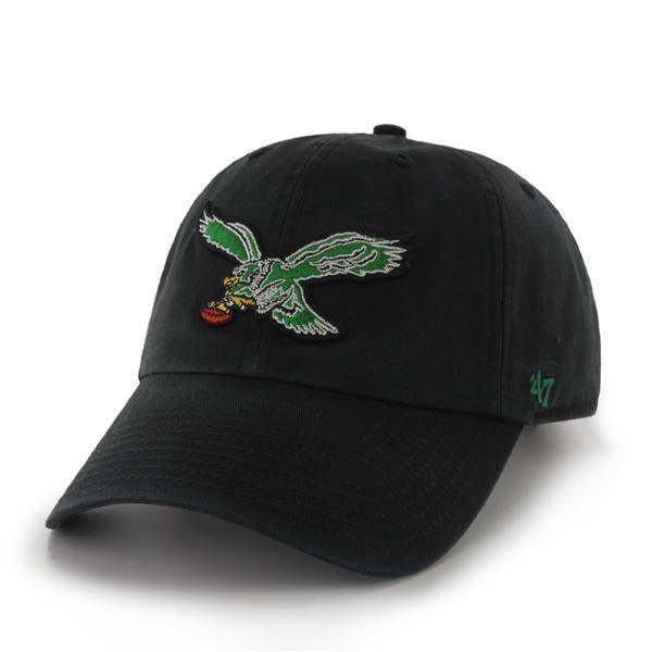 Philadelphia Eagles 47 Brand Black 1987 Legacy Clean Up Adjustable Hat Cap 0aebe50b1