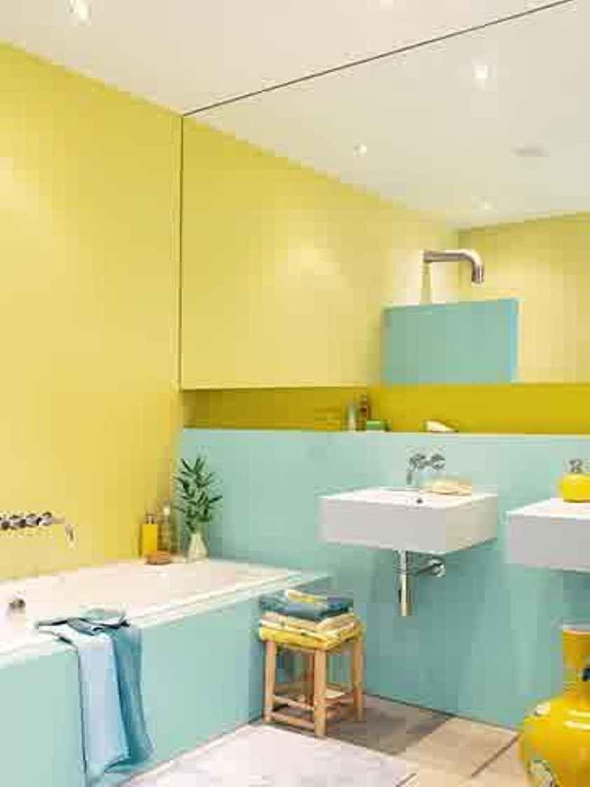 Bathroom Yellow Bathroom Paint Ideas Eggshell Blue And Yellow - Eggshell paint in bathroom