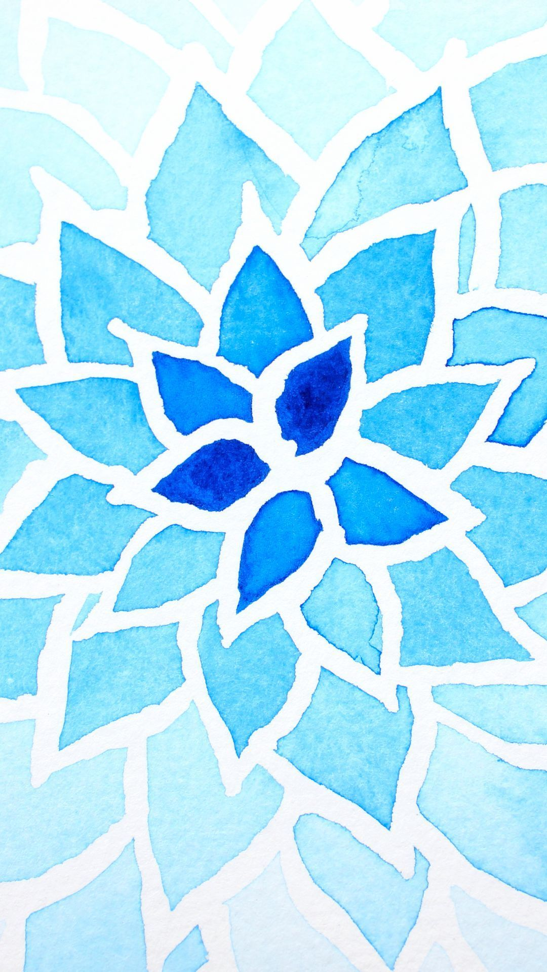 Wallpaper iphone mandala - Watercolor Flower Find More Watercolor Android Iphone Wallpapers Prettywallpaper