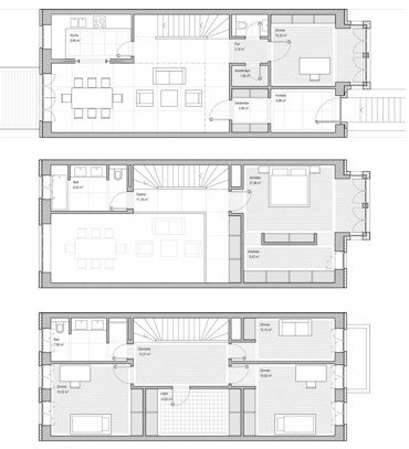 das hamburger reihenhaus mudlaff otte architekten grundrisse pinterest grundrisse. Black Bedroom Furniture Sets. Home Design Ideas
