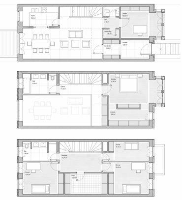 Das hamburger reihenhaus mudlaff otte architekten r e for Minimalistisches haus grundriss